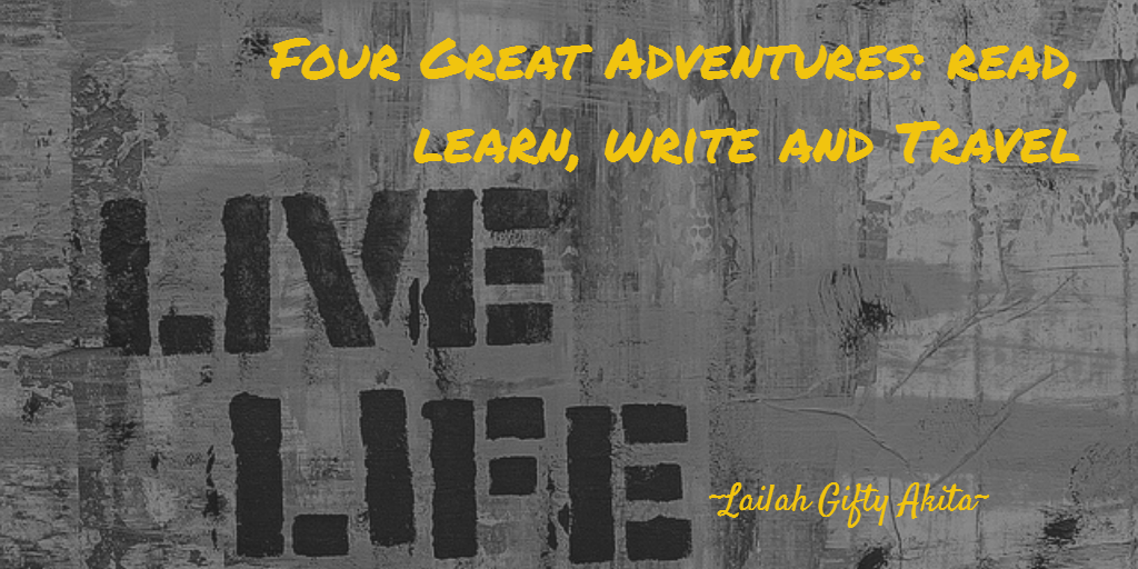 "Even with great economy in words, graffiti art conveys thought provoking messages by utilising, color, imagery a placement to great effect. Here, what the graffiti artist puts as simply 'live life', the poet doesn't achive the same effect with a wordy: ""Four great adventures: read,learn, write and travel"""