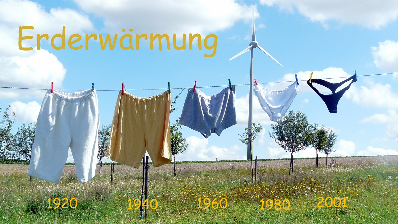 Jeffery Sachs details the economics of global warming and provides a path to sustainable future as depicted in the image where reduction in size of under garments over the years that culminates in a g-string today as satire for reduction in natural capital